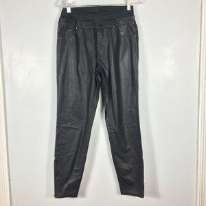 ZARA WOMAN Faux Leather Zip Hem Leggings  Size: XL